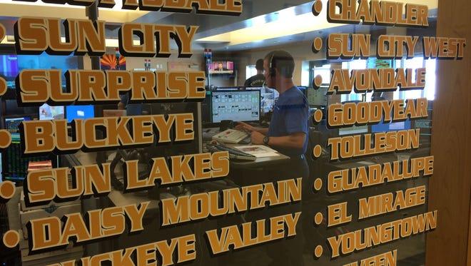 The Phoenix Fire Department Regional Dispatch Center coordinates with two dozen Valley cities.
