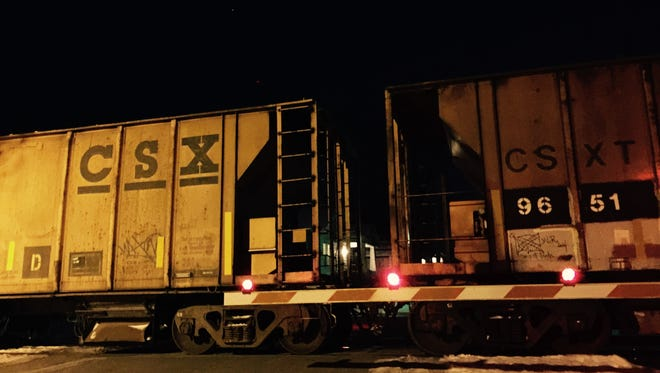 The CSX train that struck a woman crossing the tracks stopped and remained at the scene for more than two hours.