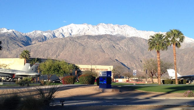 Coachella Valley residents are waking up to snowcapped mountains Tuesday morning.