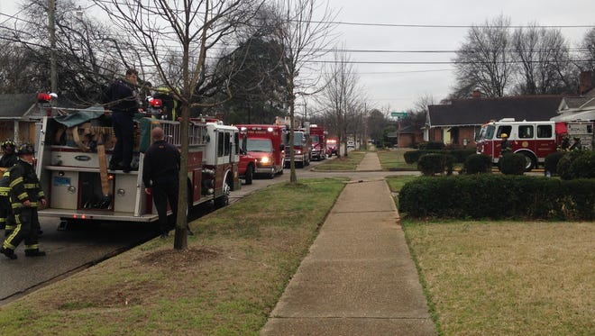Firefighters respond to structure fire on Rosa L. Parks Ave.