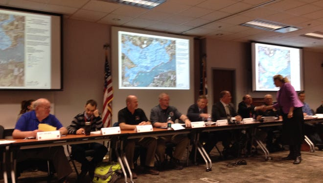 State and local leaders met Monday to discuss evacuation plans at Buckeye Lake should the dam fail.