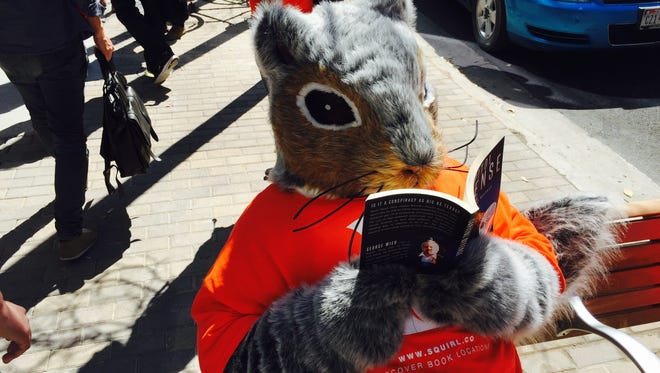 Costumed squirrels at SXSW