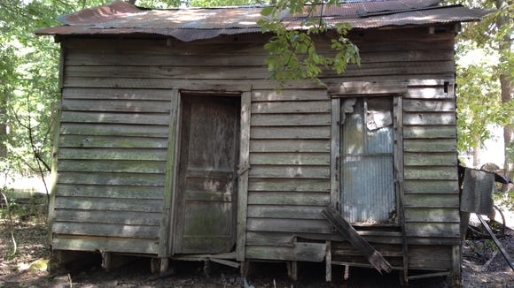 The old barn where architects found some of the original windows of the 1955 Tallahatchie County Courthouse.