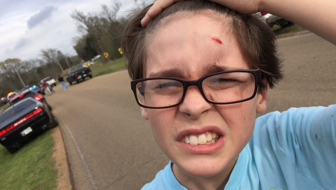 Jagger Jones, a 6th grader at Germantown Middle, was in the school bus that overturned in Canton on Friday afternoon.