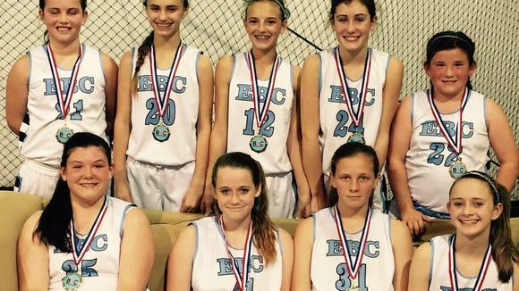 The Enka Basketball Club 8th grade team.