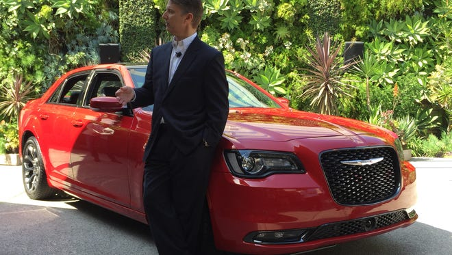 Al Gardner, CEO of the Chrysler brand, talks about the 300S sedan at a Los Angeles event.