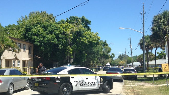 Fort Myers police investigate a homicide in the 3600 block of Seminole Avenue in Fort Myers