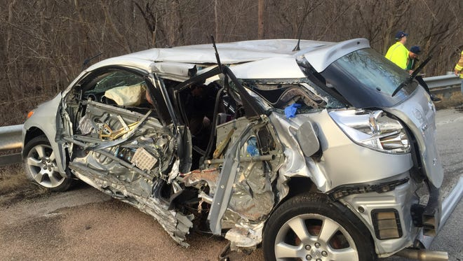 A crossover vehicle and minivan collided in 7800 block of Ind. 26 East Monday evening.