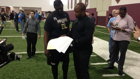 George Whitfield with Cam Erving.