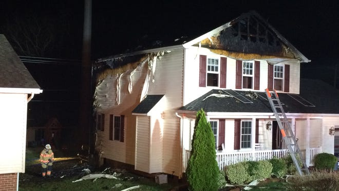 Firefighters from Staunton battled a blaze at 822 Paul Street early Friday morning.
