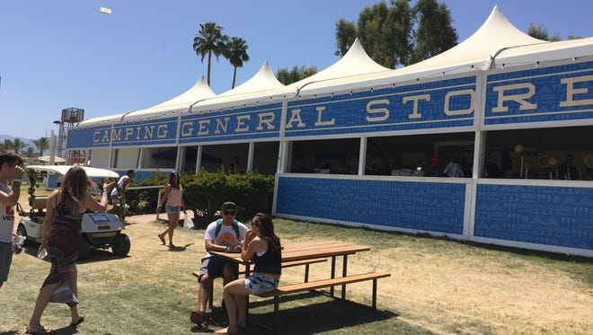 Around the Coachella Music and Art Festival campgrounds on Saturday, April 11, 2015.