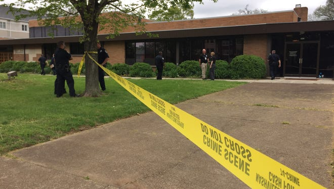 Police investigate shots fired at West End Synagogue.