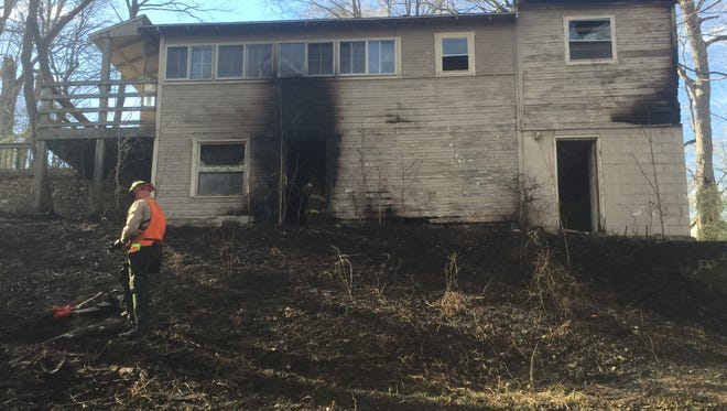 Firefighters responded to a fire in the 5800 block of Huston Road near Battle Ground on Thursday.