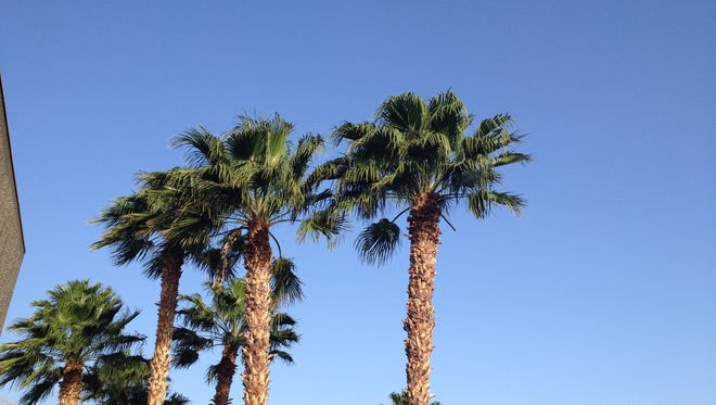 A wind advisory is in effect for the Coachella Valley through 2 p.m. Thursday.