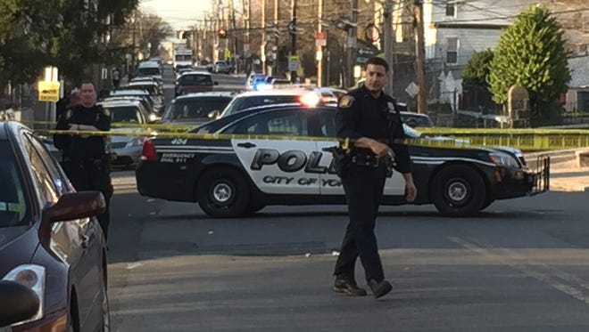 A pedestrian was struck on Warburton Avenue in Yonkers on April 18, 2015. Police closed the street as they continued.