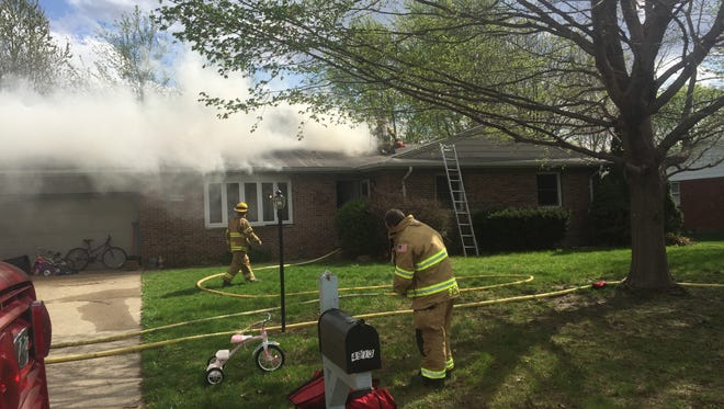 Fire crews are responding to a structure fire in the 4900 block of Eastbrook Drive in Buck Creek.