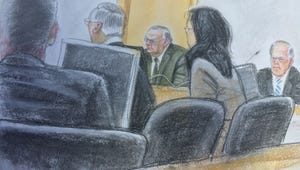 Joe Arpaio, center, listens to testimony in a federal contempt of court hearing in April 2015.