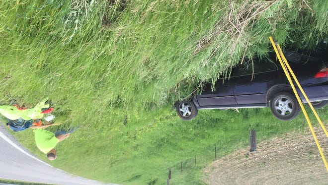 No injuries were reported in a Tuesday evening single-vehicle crash in the 1600 block of North Tippecanoe County Road 775 East.