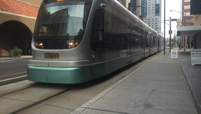 The westbound light rail was running in the area by 4 p.m.