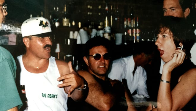 Back when I smoked, holding forth in a bar on Catalina Island, California, circa early 90s.
