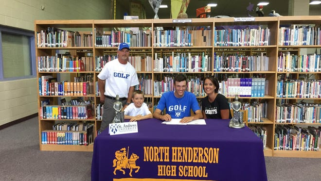 North Henderson senior Hunter Patterson has signed to play college golf for St. Andrews.