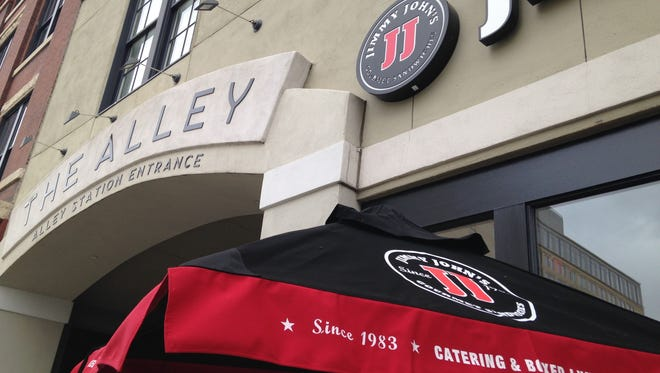 Jimmy John's new Alley Station store offers free delivery throughout downtown.