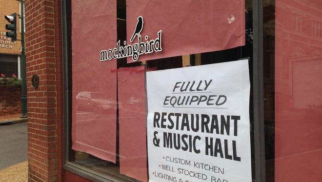 Staunton's former restaurant and music hall, Mockingbird, has a new realtor listing the property.