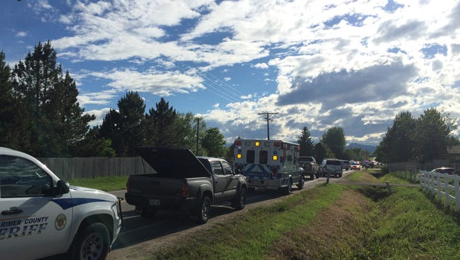 Police responded to a report of a shooting northeast of Loveland on Saturday.