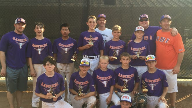 The RBI 12 and under baseball team.