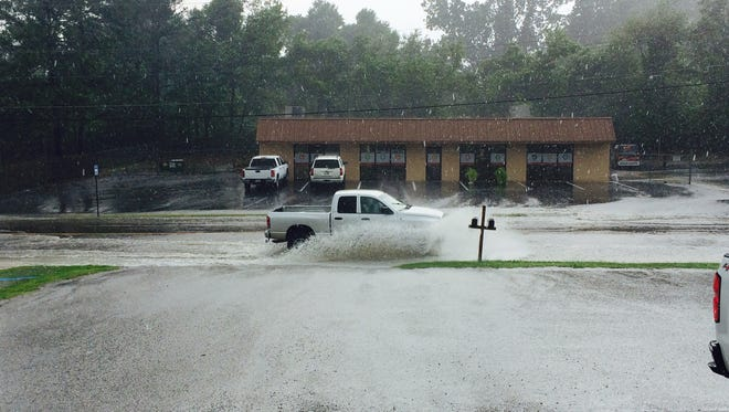 Flooding on Old Hickory Boulevard this afternoon.