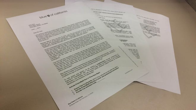 A sample of the letter Blue Shield members will receive notifying them if their personal information was compromised.