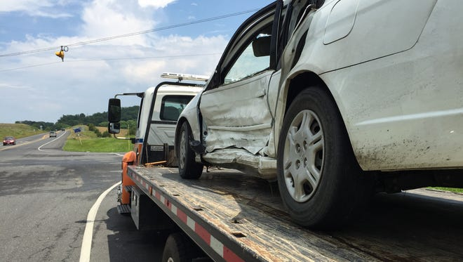 Two cars collided Saturday afternoon at the intersection of Springhill Road and Va. 262 in Staunton, sending both to the hospital.