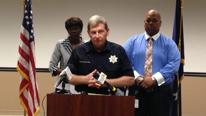 Caddo Sheriff Steve Prator addressed the media on the newly anticipated flooding event.