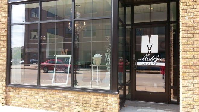Modify Hair Salon opened in Menasha's downtown.