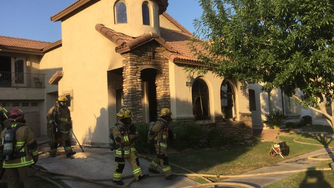 Phoenix police said a fire at a South Phoenix home on June 22, 2015 could have been caused by an arsonist.