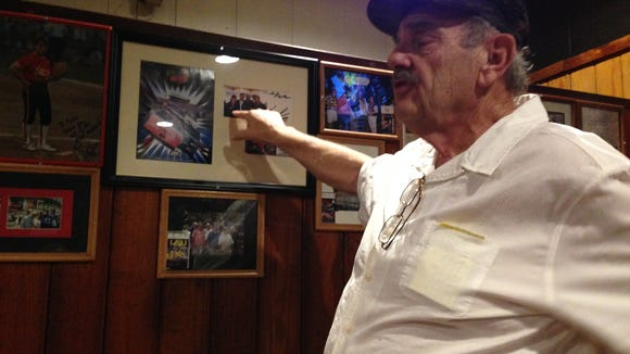 Pete's owner Preston Guidry discusses the meaning of memorabilia that is tucked away in the restaurant. The space, which might be used for private parties, is being called Preston's Room.