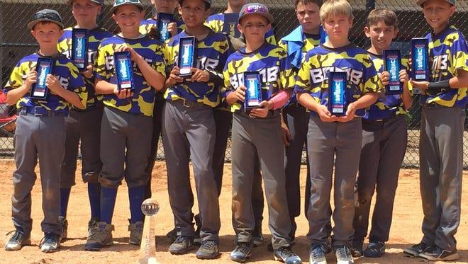 The Bombsquad Elite 10U baseball team.