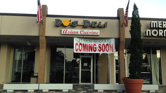 Fusion Seafood is opening soon in the former Do's Deli space in the South College Shopping Center.