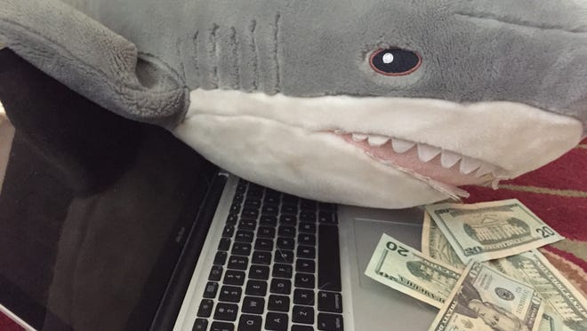 Watch out for cyber sharks! They will chomp  on to your computer and hold it for ransom.