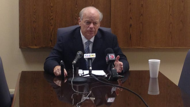 Dale Cox announced the Caddo grand jury's decision to not issue further indictments in Station 8 scandal on Wednesday.