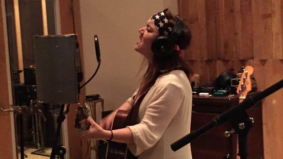 Lydian Loveless in the recording studio.