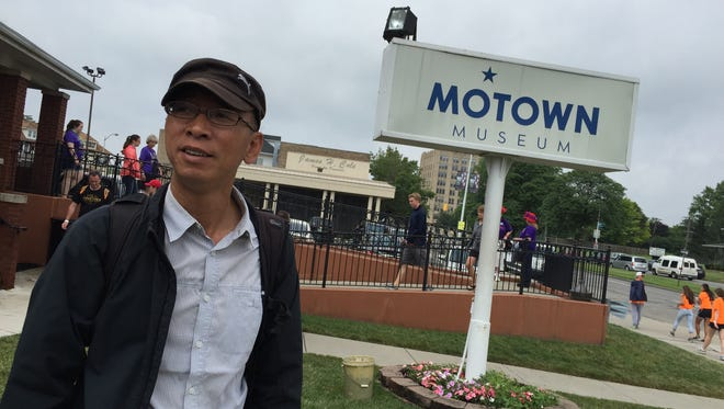 Jun Song, a blogger from China, visited the Motown Museum as part of a tour of the Midwest.
