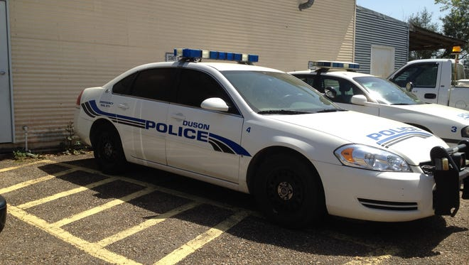Duson Police were involved in a high-speed chase Friday.