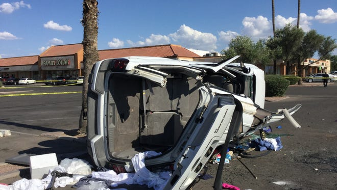 An SUV rolled multiple times after the driver lost control, officials said.