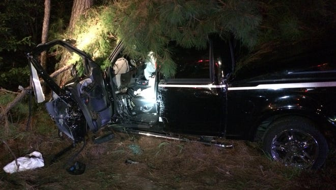 A driver was killed when a truck left the roadway on Mississippi 28 early Saturday.