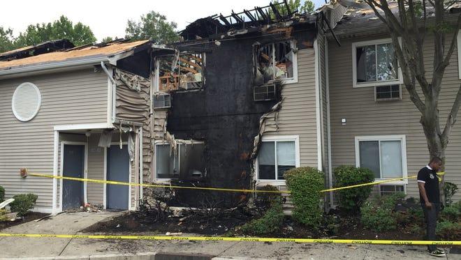Fire destroy a building at the Cortwood Village senior citizen complex in Orangeburg
