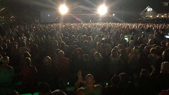 The sold out crowd at the Freeman Stage at Bayside near Selbyville cheering for Heart during the encore Friday night.