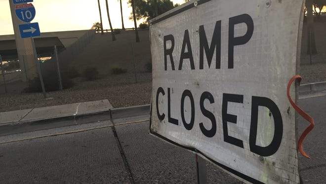 The State Route 101 ramp to Interstate 10 is closed.