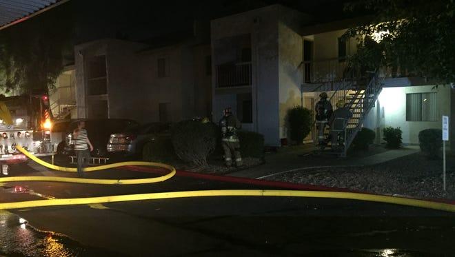 Fire crews respond to an apartment fire near Union Hills Drive