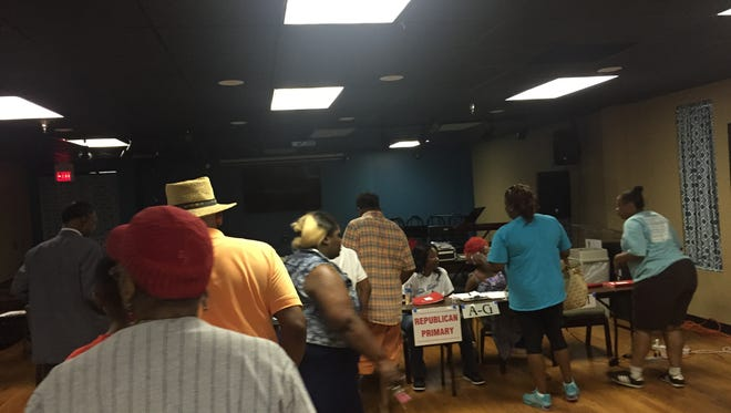 Voters today at Precinct 94 in southwest Jackson.